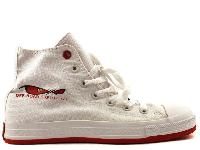 Мужские Converse All Star Off-Road White/Red High оригинал белые текстиль высокие 36