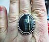 Красивое кольцо с соколиным глазом  18,8 размера от студии LadyStyle.Biz