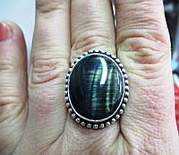 Красивое кольцо с соколиным глазом  18,8 размера от студии LadyStyle.Biz, фото 1