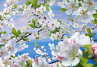 """Фотообои бумажные на стену, 194х268 см """"Весна"""", фотообои готовые, фотообои природа, 16 листов"""