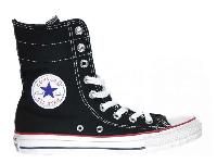Женские Converse All Star Black High-Rise оригинал черные текстиль высокие