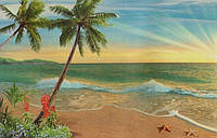 """Фотообои бумажные на стену, 194х268 см """"Тропический рай"""", фотообои готовые, фотообои природа, 16 листов"""