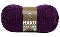Nako Pure Wool фіолетовий № 60