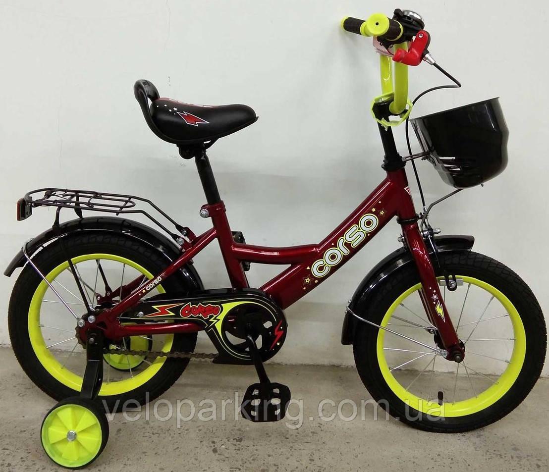 Детский велосипед Corso 14 дюймов (2019) new