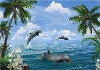 """Фотообои бумажные на стену, 194х268 см """"Морские забавы"""", фотообои готовые, фотообои природа, 16 листов"""