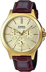 Часы CASIO MTP-V300GL-9AUDF мужские наручные часы касио оригинал