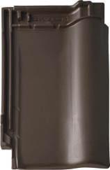 Черепица керамическая BRAAS Рубин 9V коричневая ангоба