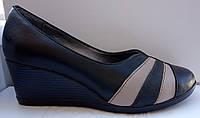 Туфли женские на удобной танкетке из натуральной кожи от производителя модель РБ0350