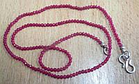 Мелкие  бусы  с  натуральными рубинами  15  карат от студии  LadyStyle.Biz, фото 1