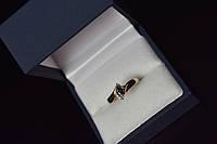 Золотое кольцо 10К (417 проба) с Синей Шпинелью и бриллиантами