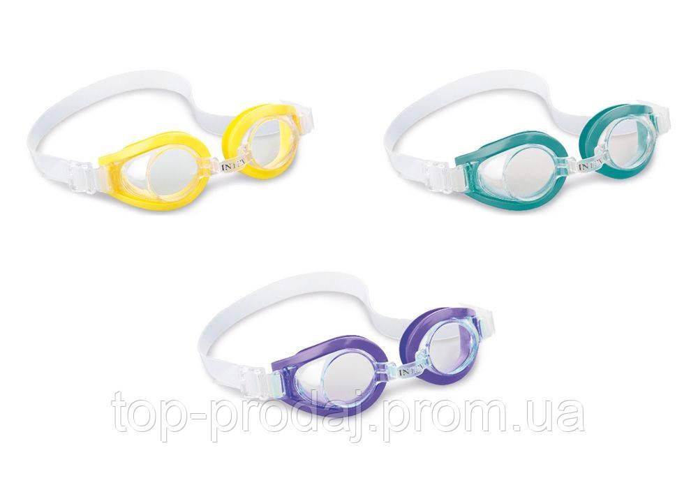 55602 очки для плавания 3-8лет 3цв.,Детские очки для плавания, Очки для ребенка в бассейн, Двухстекольные очки