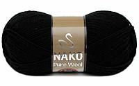 Nako Pure Wool черный № 217