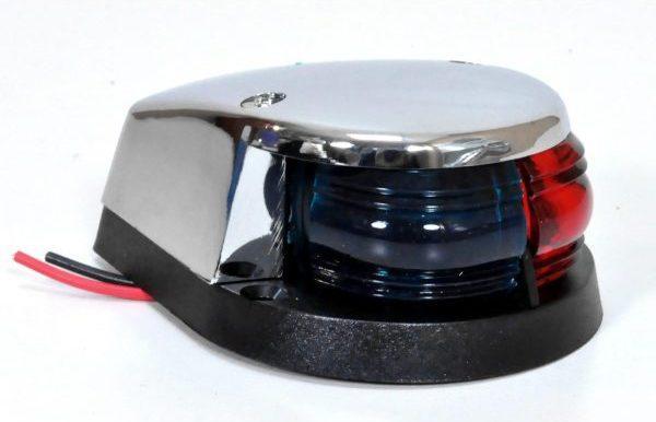 Навигационный огонь красно-зеленый ААА 00154, корпус хром