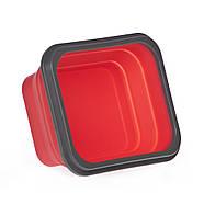 Ланчбокс складной силиконовый (красный), фото 4