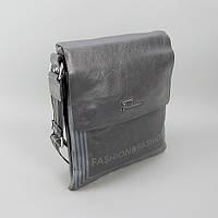 Сумка средняя кожзам мужская серая Fashion 1315-2624, фото 1