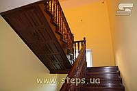 Сходи - Обшивка металокаркасу деревом