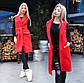 """Женское стильное пальто-жилет 9168 """"Кашемир Карманы Клапан"""" в расцветках, фото 5"""