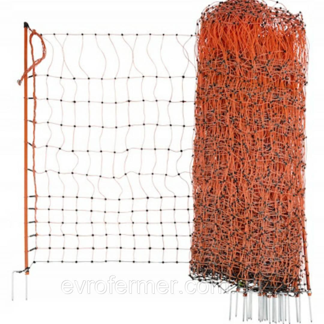 Сетка электропастуха для домашней птицы с двойным острием (высота 112 см, рулон 50 м)