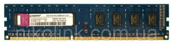 Пам'ять Kingston DDR3 2GB PC3-10600U (1333Mhz) (ACR256X64D3U13C9G)(8x1), б/у