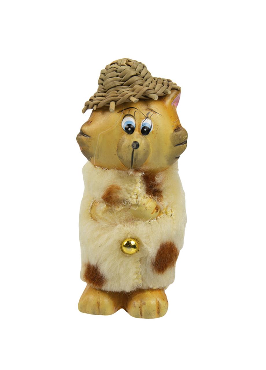 """Статуэтка """"Кот в шубе"""" Penny 8,5х3см Бежевый, Желтый"""