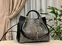 Женская сумка глиттер + косметичка,большая, фото 8
