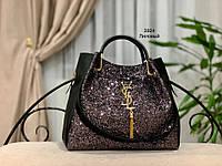 Женская сумка глиттер + косметичка,большая, фото 9