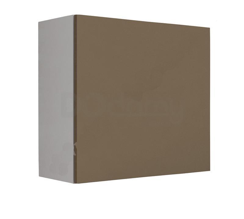 Витрина квадрат VIGO CAMA Белый матовый / Латте глянец