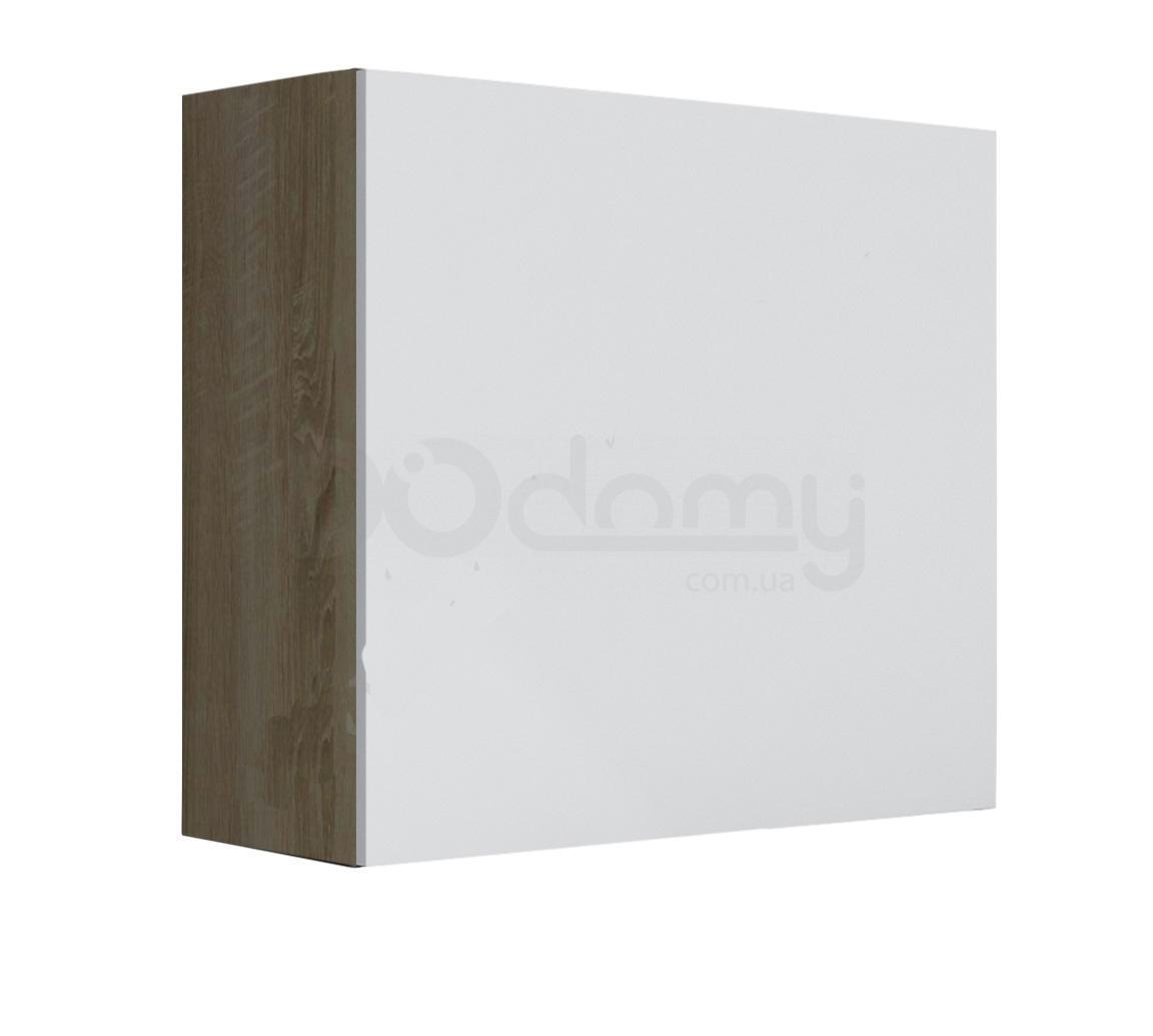 Витрина квадрат VIGO CAMA Дуб Сонома / Белый глянец