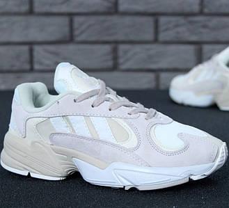 Женские кроссовки Adidas Yung-1 White/Grey