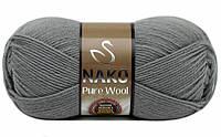 Nako Pure Wool серый № 3298