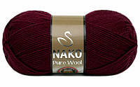 Nako Pure Wool бордовый № 6592