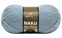 Nako Pure Wool блідо блакитний № 10640