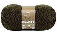 Nako Pure Wool хакі № 10728