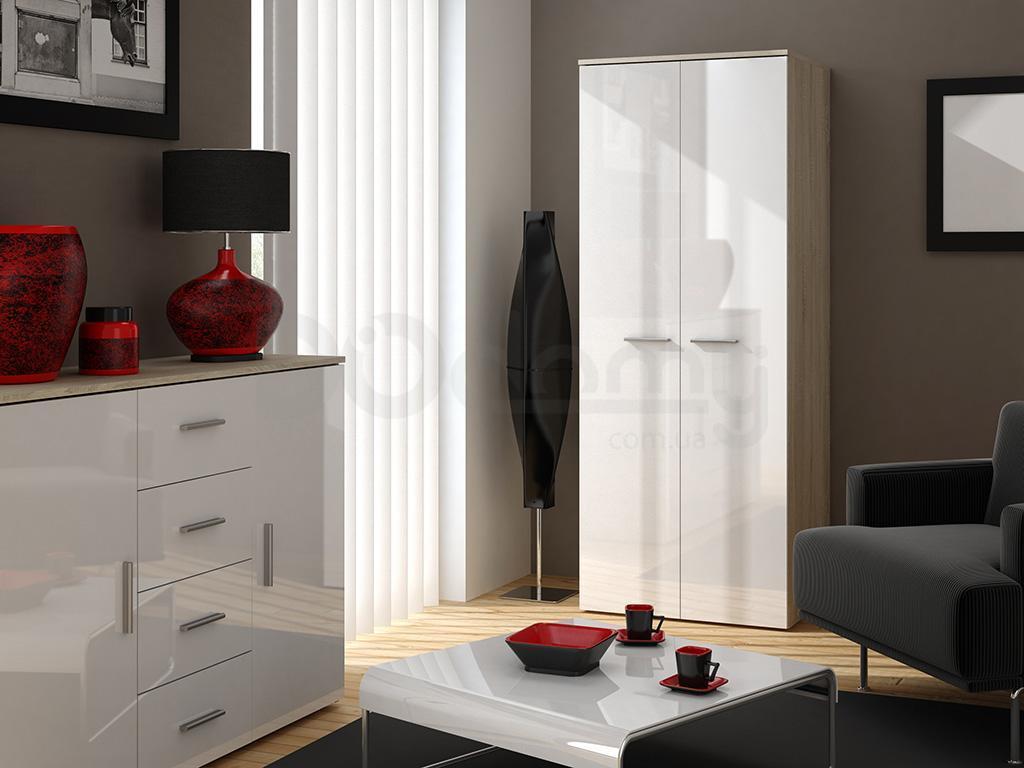 Шкаф универсальный CAMA Дуб Сонома / Белый глянец