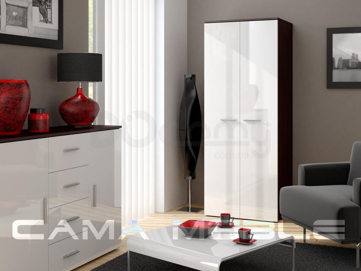 Шкаф универсальный CAMA Белый матовый / Черный глянец