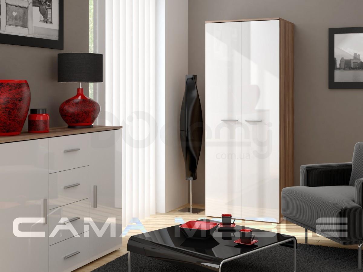 Шкаф универсальный CAMA Слива матовый / Белый глянец