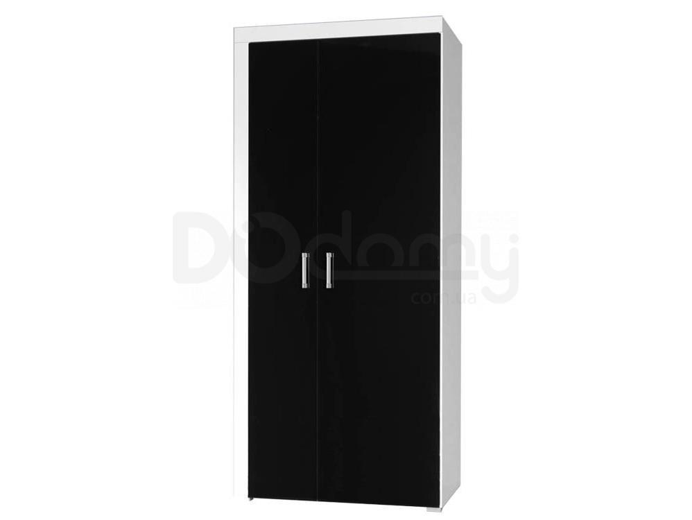 Шкаф SAMBA CAMA Белый матовый/Черный глянец