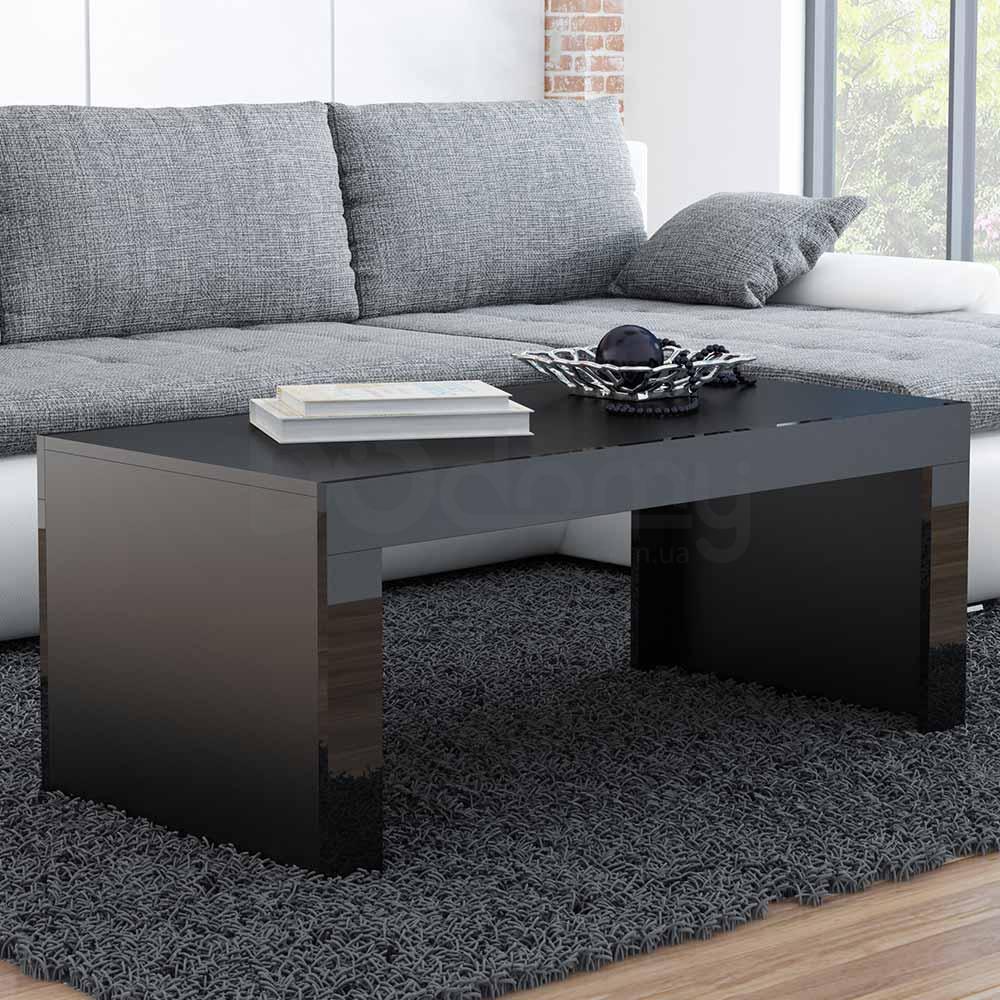 Журнальный столик TESS CAMA Черный матовый / Черный глянец