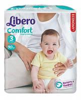 """Подгузники Libero  Comfort Fit """"3"""" Midi 90 (4-9 кг) либеро комфорт"""