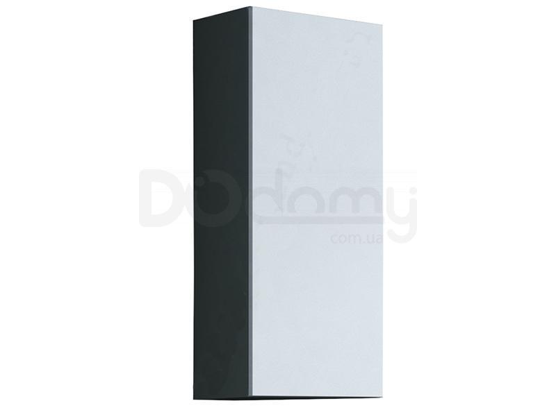 Пенал навесной малый VIGO CAMA Серый матовый / Белый глянец