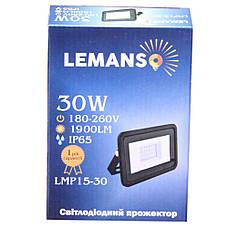 Светодиодный прожектор 30W Lemanso LMP15-30, фото 3