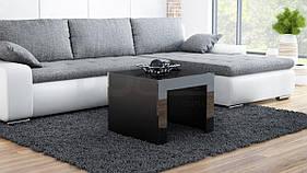 Журнальный столик TESS 60 CAMA Черный матовый / Черный глянец