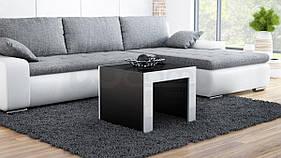 Журнальный столик TESS 60 CAMA Черный матовый / Белый глянец