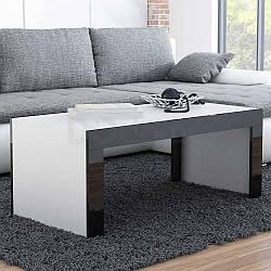 Журнальный столик TESS CAMA Белый матовый / Черный глянец