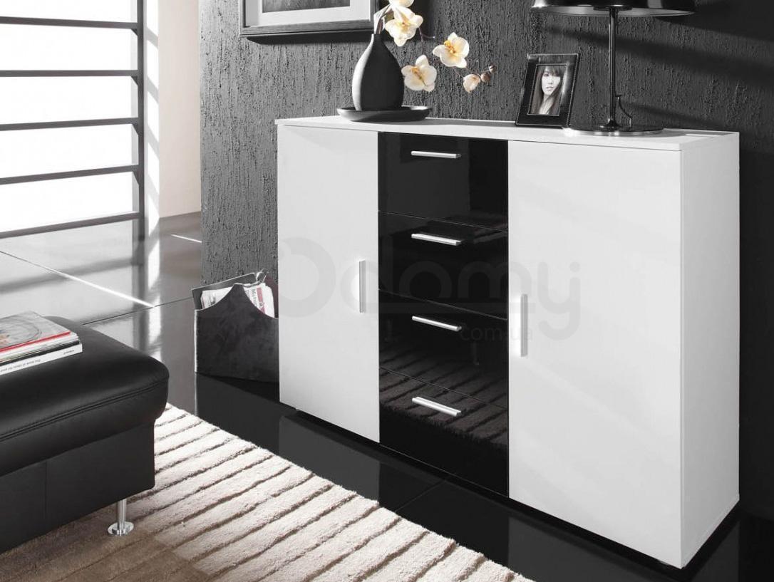 Комод Uni CAMA Белый матовый / Белый глянец / Черный глянец