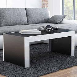 Журнальный столик TESS CAMA Черный матовый / Белый глянец