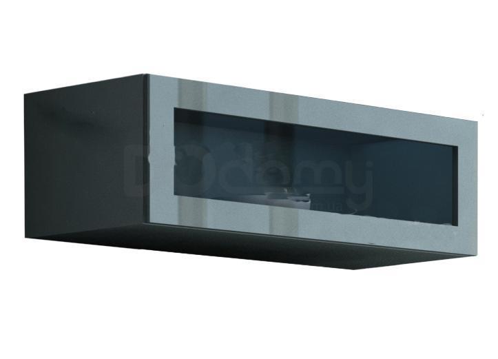 Витрина навесная стекло VIGO CAMA Серый матовый / Серый глянец