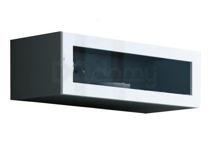 Витрина навесная стекло VIGO CAMA Серый матовый / Белый глянец