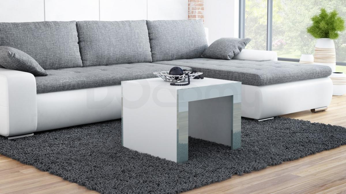 Журнальный столик TESS 60 CAMA Белый матовый / Серый глянец