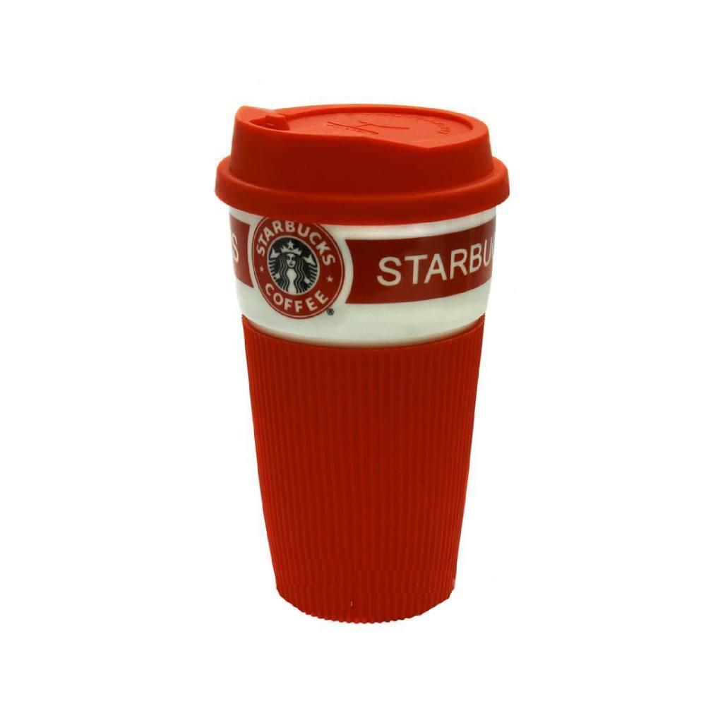 Керамическая чашка Starbucks Eco cup (Красная)